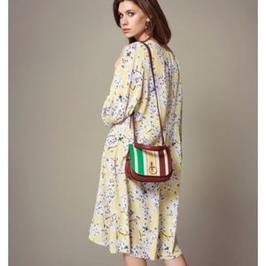 H&M Anna Glover Yellow Floral Dress